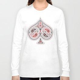 83 Drops - Spades (Red & Black) Long Sleeve T-shirt
