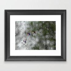 Rain racers Framed Art Print