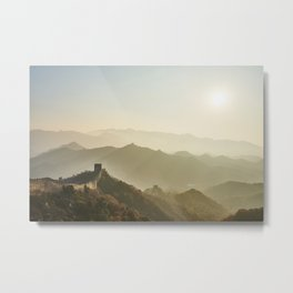 The Mountains of the Great Wall Metal Print