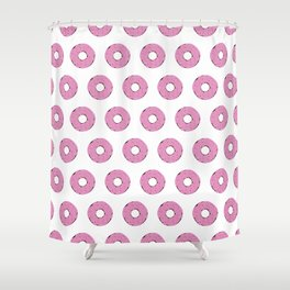 strawberry frosted donuts Shower Curtain