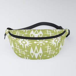 Mid Century Modern Atomic Space Age Pattern Chartreuse Fanny Pack