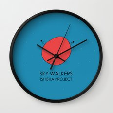 SKY WALKERS by ISHISHA PROJECT Wall Clock
