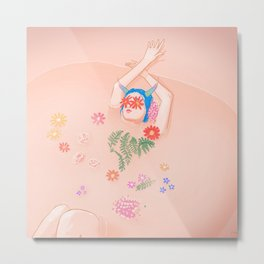 Flower Bath Metal Print