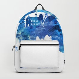 Geneva Switzerland Skyline Blue Backpack