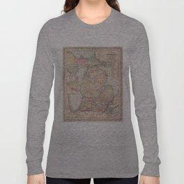 Vintage Map of Michigan (1857) Long Sleeve T-shirt