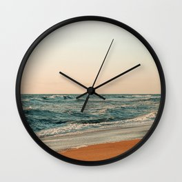 Ocean Orange Wall Clock