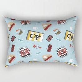 Twin Peaks RR Diner Toss Rectangular Pillow