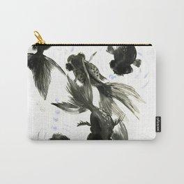 Black Moor, Feng Shui art, black fish zen painting Carry-All Pouch