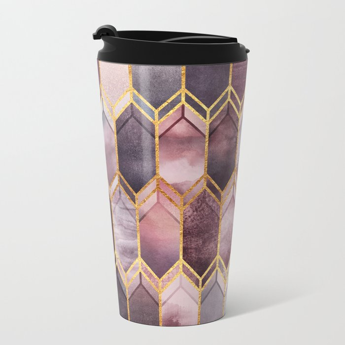 Dreamy Stained Glass 1 Metal Travel Mug