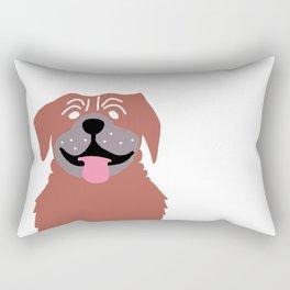 Big Red Dog Rectangular Pillow