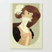 lace Canvas Prints featuring Lace by Jumei