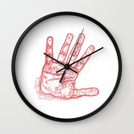 My Right hand Red Wall Clock