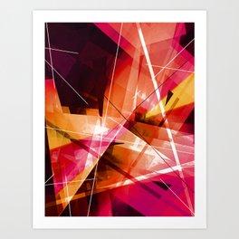Outbreak - Geometric Abstract Art Art Print