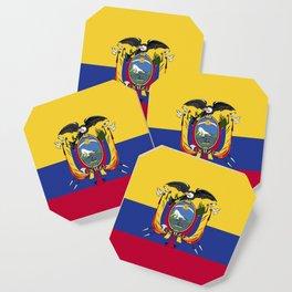 Ecuador flag emblem Coaster