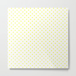 Dots (Yellow/White) Metal Print