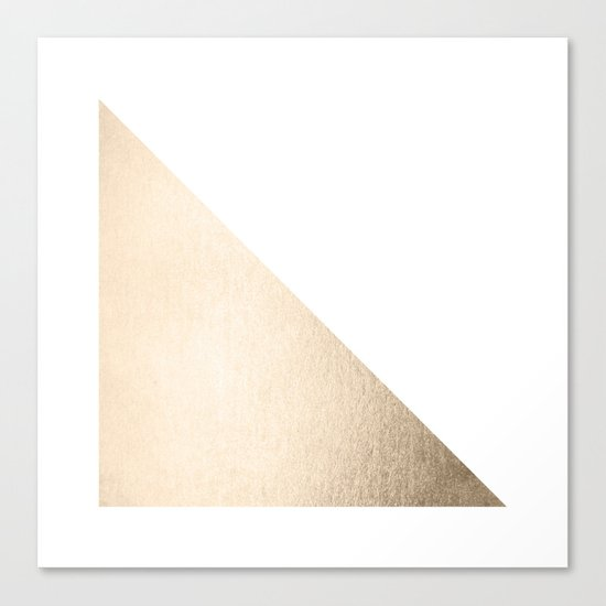 Simply Shadow in White Gold Sands Canvas Print