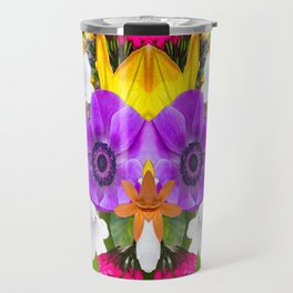 Flower mess - Pink Chaos Travel Mug