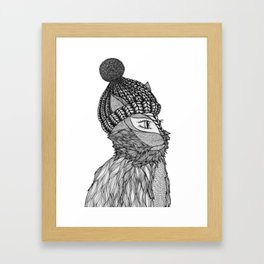 Mr. Henry in a Beanie Framed Art Print
