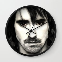 Pace Lee in watercolors Wall Clock