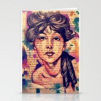 agnes cecile Stationery Cards featuring Agnes Mackenzie by Olga Noes