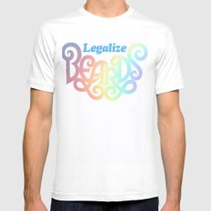 Legalize Beards Mens Fitted Tee White MEDIUM