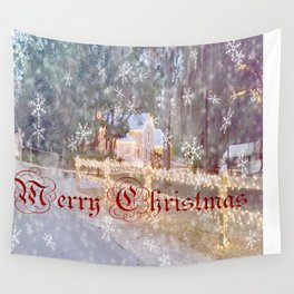 Country Merry Christmas Wall Tapestry