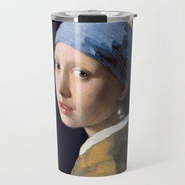 "Johannes Vermeer ""Girl with a Pearl Earring"" Travel Mug"