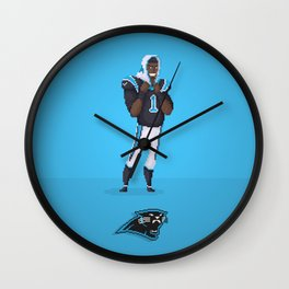 Cam Newton Wall Clock