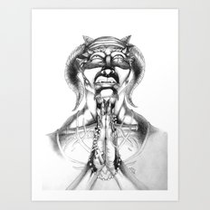 Prayer (Pencil) Art Print