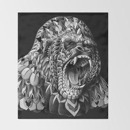 Gorilla Throw Blanket