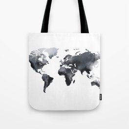 Blue world map Tote Bag