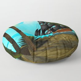 Turquoise Seas Floor Pillow