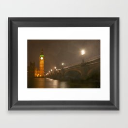 Big Ben in the rain - London Framed Art Print