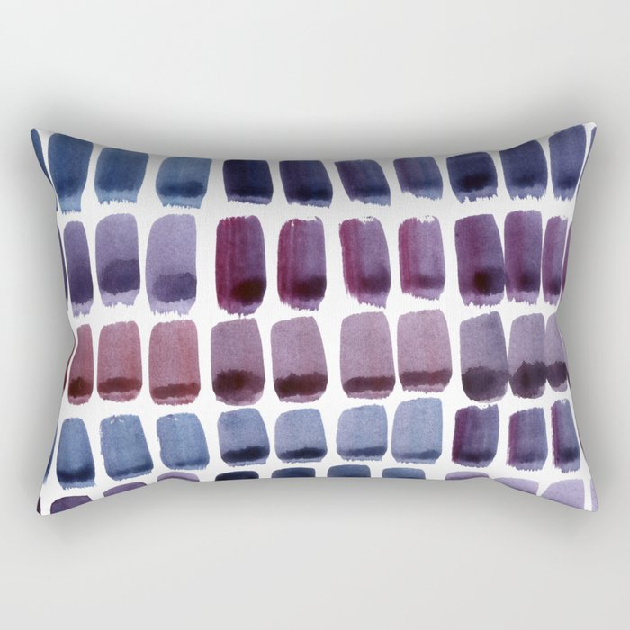 Brushstroke Colour Mixing 1 Rectangular Pillow