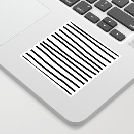 Simply Drawn Stripes in Midnight Black Sticker