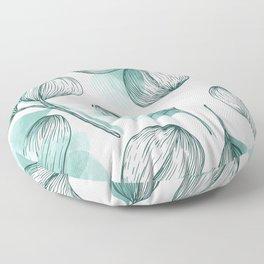 Round Leaves 2 Floor Pillow