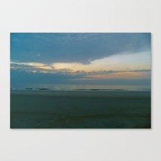 Blue Sunrise on Tybee Island Beach Canvas Print