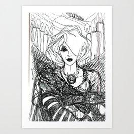 Ms Biro (Candles.) Art Print