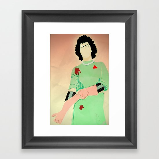 Why don't you come to the lab and see what's on the slab Framed Art Print