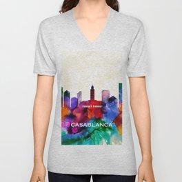Casablanca Skyline Unisex V-Neck