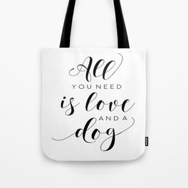 All You Need Is Love Beetles Song Quote Digital Wall For Gift and Office Decor Tote Bag