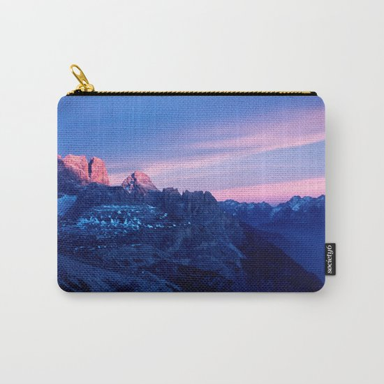 Romantic Sunset in the Snowy Mountains #2 #art #society6 Carry-All Pouch