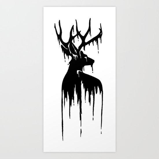 Painted Stag V.2 Art Print