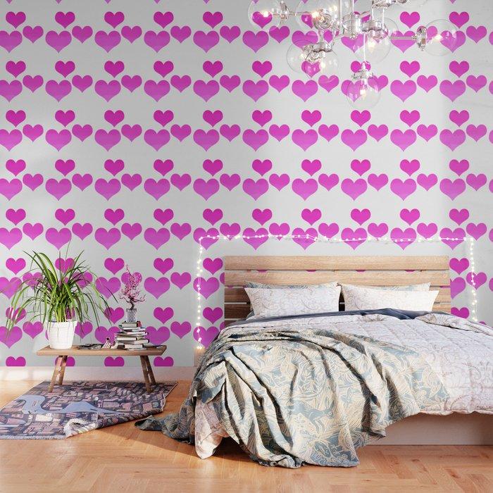 Bright Hot Pink Love Wallpaper by katherinefriesen