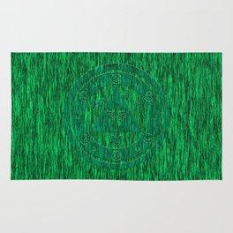 Zelda Green Art Triforce Rug