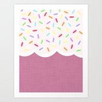 sprinkles Art Prints featuring Sprinkles by Glanoramay