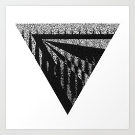 Discardable Triangle Art Print