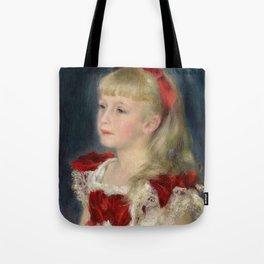 """Auguste Renoir """"Mademoiselle Grimprel au ruban rouge"""" Tote Bag"""