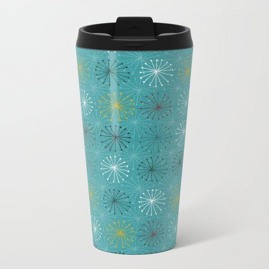 seedheads blue Metal Travel Mug