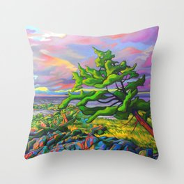 Windswept Juniper by Amanda Martinson Throw Pillow